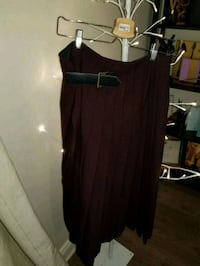 Zara burgundy wrap skirt ,size 6