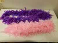 2 Thick Feather Boas - Pink 5.5ft. & Purple 6.5ft Santa Rosa, 95404