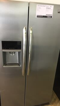 stainless steel side-by-side refrigerator with dispenser White Lake, 48383