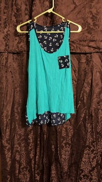 Teal and black anchor tank top from rue 21 sz L Pineville, 71360
