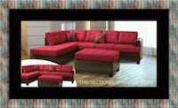 red and black sectional sofa Adelphi