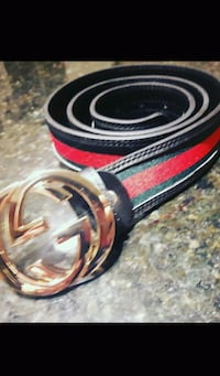 red and black Gucci leather belt 536 km