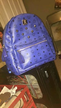 blue and white MCM leather backpack Spartanburg, 29303