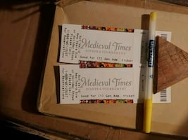 2 Medieval Times General Admission Tickets