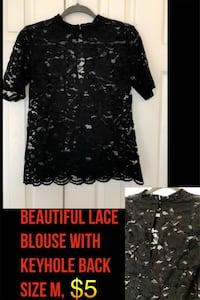 Forever21 black lace blouse! Worn once. Size M 8 mi