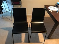 Black dining chairs  Fairfax