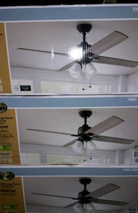 """NEW 54"""" BRONZE CEILING FAN WITH LED LIGHT"""