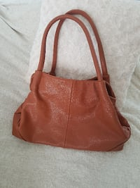women's brown leather shoulder bag MONTREAL