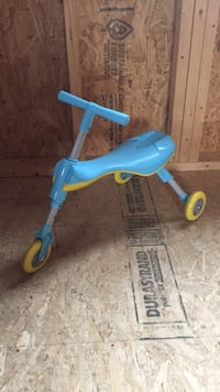 Toddler's blue and yellow trike