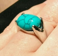 New Turquoise  Silver Plated Ring Calgary, T3C 2A4