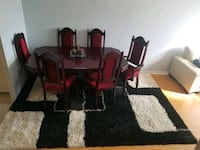 Cherry wood dining table with 6 chairs Toronto, M6M 5G9