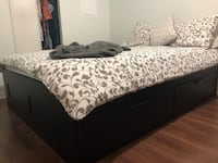 Queen size bed frame  Toronto, M6J 0A9