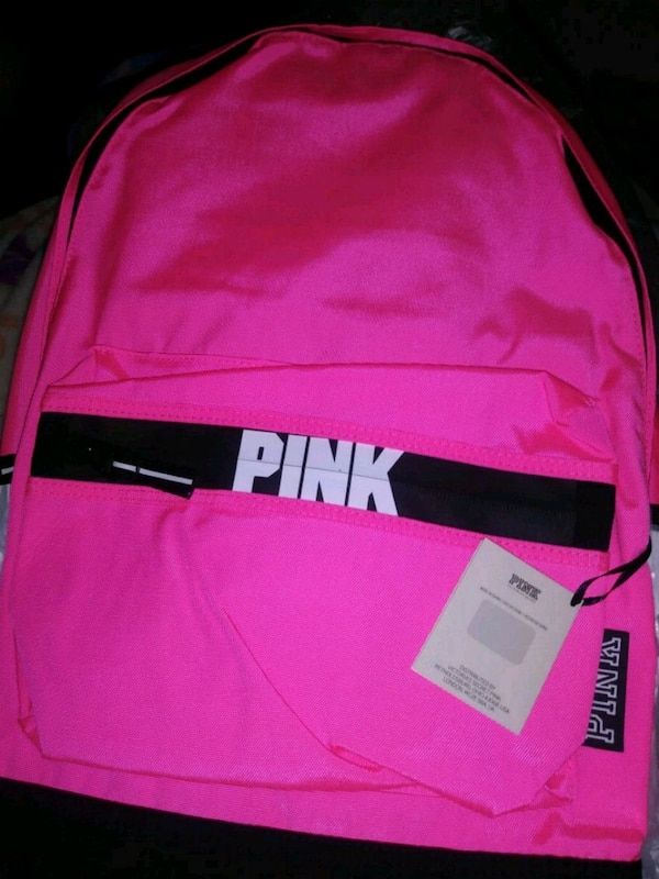 2e8fac90445 Used pink and black Victoria s Secret Pink backpack for sale in Stockton -  letgo