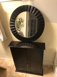 Brand new Cabinet $30 Dark brown. Mirror sold  Burlington, L7P