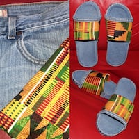 Handmade Kente Print Slides Oxon Hill-Glassmanor, 20745