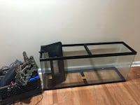 Black framed glass fish tank Hyattsville, 20784