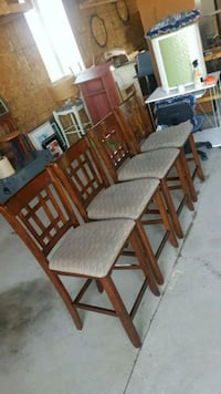 set of four bar height stools  Brampton, L6X