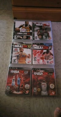 six Sony PS3 game cases Montreal, H1L