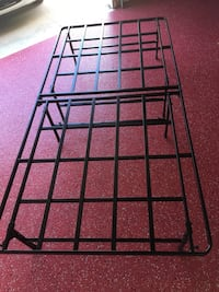 Steel bed frame Brand New. XL TWIN. Holds temperpedic or other foam mattress. Eight strong rubber-tipped feet for max stability and comfortable height. Can use with inflatable mattress. Folds thinner than a soft drink can for storage. Super easy to set up Hoover, 35226
