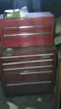 red and black tool cabinet 549 mi