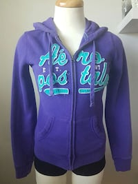 women's purple and teal Aeropostable full zip hoodie Surrey, V3R 1G6
