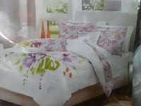 white and pink floral bed comforter Imperial