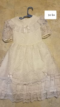 Girls sz 6x white lace dress Thurmont