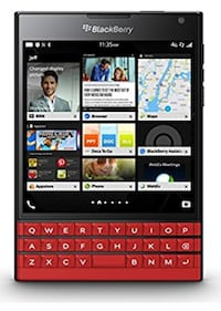 black and red BlackBerry qwerty phone Toronto, M4H