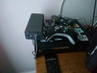 black Xbox 360 with two controllers Rock Hill, 29732