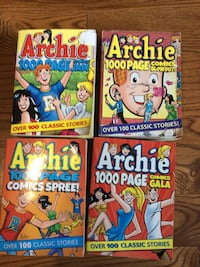Four 1000 pages. Archie comic books. Chatham, N7L 4S7