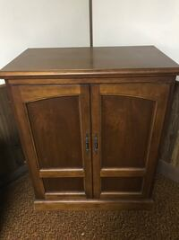 """Cherry tv cabinet doors open to fit tv holds 32"""" tv Taneytown, 21787"""