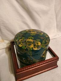 From India Hand Painted Trinket Box  Burlington, L7R 3P8