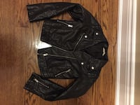 Girls H&M black pleather motorcycle jacket size 11-12 - $15 Vaughan, L6A