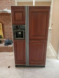 brown wooden front Side by Side Refrigerator Hagerstown, 21742