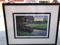 brown wooden framed painting of house Fayetteville, 72703