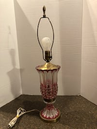 "Vintage Brass and Glass 28"" Lamp Manassas, 20112"