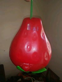 red and green plastic toy