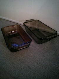 Two Anchor Hocking Fire King Loaf Pans Diamondhead, 39525