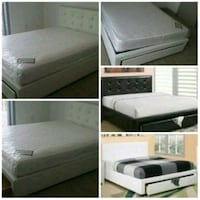 Queen bed with mattress any one $350 Miami, 33169
