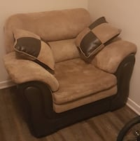 brown and beige fabric sofa chair Burlington, L7S