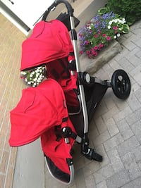Beautiful double red city select stroller  Whitby, L1N
