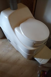 white ceramic toilet bowl with cistern Hamilton, L8E 3M6