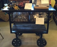 Industrial yet farmhouse cart /2 drawers Olney, 20832
