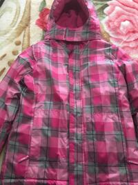 pink and black plaid button-up shirt Mississauga, L5N