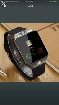 Brand new Bluetooth smart watch Unlocked for iPhone & Android  2299 mi