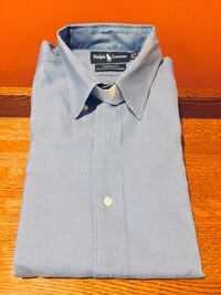 RALPH LAUREN YARMOUTH PINPOINT OXFORD Men's Luxury Cotton Long Sleeve Button Up Casual Dress Shirt - SHIPPING AVAILABLE   365 mi