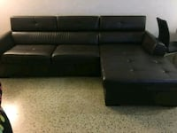 black leather tufted sectional sofa Homestead, 33033