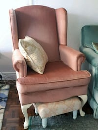 Wingback chair with stool  Toronto, M4Y 1K8
