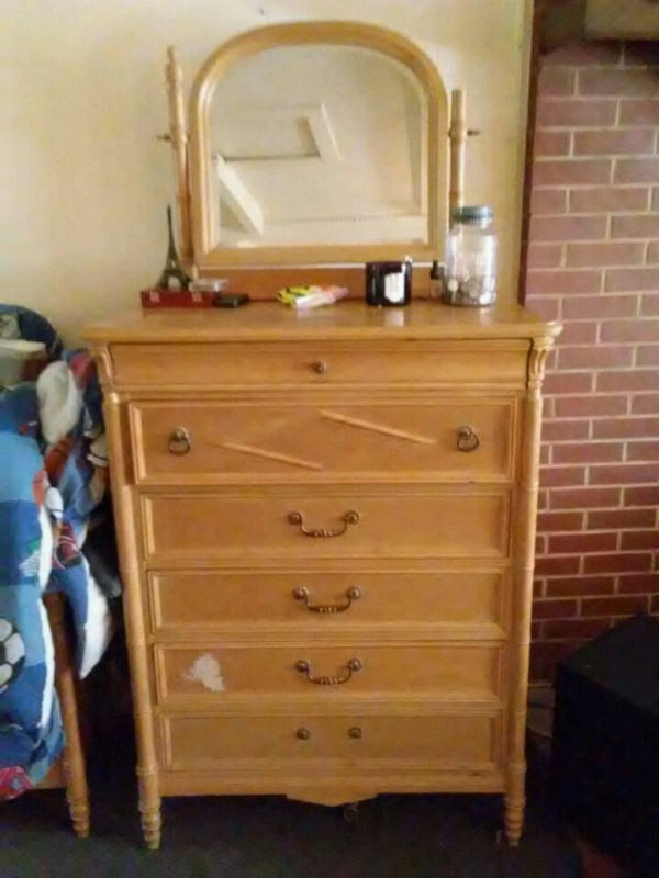 Used Standing Dresser With Mirror For