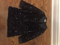 Girls black sequins dress - size 6 Vaughan, L6A